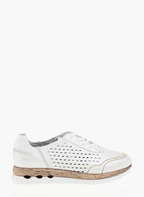 Network Deri Sneakers Ayakkabı Beyaz